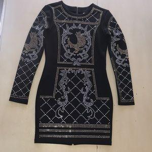 Dresses & Skirts - NWOT Long Sleeve Sequined Full  Zip Back Dress